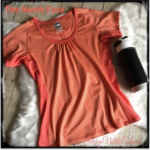The North Face Vapor Wick Tangerine Stripe Tshirt